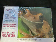 Wholesale Lot - 12 packs of 24 - 288 - Bugs & Frogs Greeting cards w/ Envelopes
