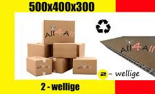 30 Karton  500 x 400 x 300 Versandkarton Kartons *** Faltkarton 2 - wellig STARK