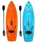 "8'-5"" Kayak with Paddle Sit on Top Lifetime Hydros Blue Orange 225 lb Capacity"