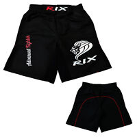 Rix MMA Shorts Kick Boxing BJJ Muay Thai Grappling UFC Cage Fight Mens Gym Wear