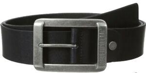 Caterpillar Leather Belt Men's CAT Trapper Peak Belts Logo Nickel Buckle - Black