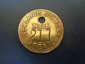 Newlands Colliery Miners Mining Pit Check Token South Wales Area