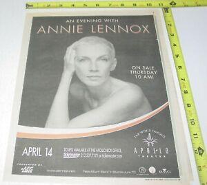 Annie Lennox Live Concert AD Advert 2003 Bare Tour Apollo Theater New York NY