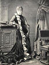 Sarah Bernhardt as Mrs. Clarkson Vintage Gebbie & Co B&W Art Print 1887