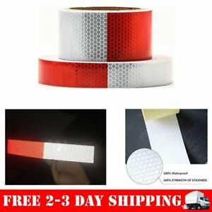 Outdoor Reflector Safety Stickers Tape White Red Reflectorized Bicycle Trailer