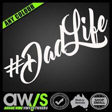#DadLife Dad life Hashtag Car Sticker Decal  #MumLife Baby on Board Sign