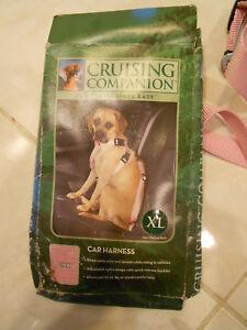"Cruising Companion Dog Car Harness Safety Seatbelt Pink Size XL 32""-44"" Girth"