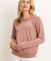 NWT Gorgeous Women's Medium Sweatshirt Sweater Blouse Top BOUTIQUE