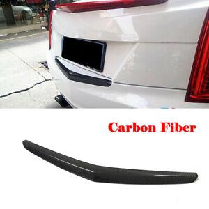 For Cadillac ATS 2014-2019 Real Carbon Fiber Rear Door Trunk Lid Tail Gate Trim
