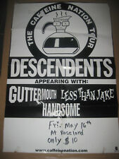 DESCENDENTS GUTTERMOUTH LESS THAN JAKE CONCERT POSTER 97 NYC ROSELAND PUNK ROCK