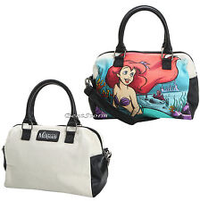 Disney Little Mermaid Ariel Water Color Canvas Barrel Bag Purse Loungefly NEW