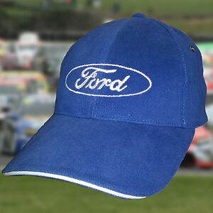 NEW  BLUE CAP WITH EMBROIDERED FORD LOGO ONE SIZE FITS ALL!