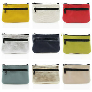 Women Soft Real Leather Small Zipped Coin Key Pouch Ladies Mini Purse VP1-5