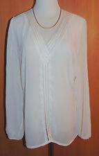 Elegante leicht transparente Bluse mit Bändereinsatz Gr.42