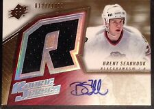 Brent Seabrook 2005-06 Spx Autograph Auto Rookie Jersey Chicago Blackhawks /1499