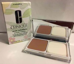 NIB Clinique Acne Solutions Powder Makeup 14 Vanilla (MF-G) Dry Combo Oily Skin
