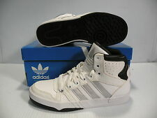 ADIDAS COURT PRO HI SNEAKERS MEN SHOES WHITE/SILVER G99597 SIZE 5 NEW