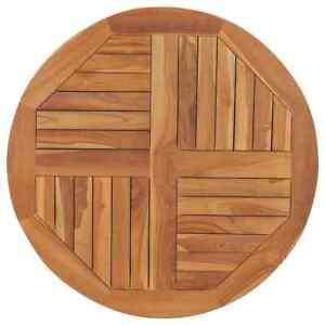 vidaXL Table Top Solid Teak Wood Round 2.5 cm 80 cm Brown
