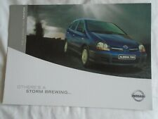 Nissan Almera Tino Twister brochure Dec 2001