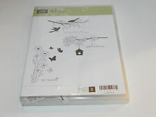 Stampin Up Up In the Air CLEAR Mount Stamp Set of 3 Birds Branch Congratulations