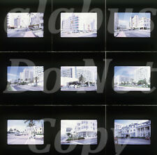 Lot of 9 Orig 1968 Slides STREET VIEWS - MIAMI BEACH - COLLINS AVE & MORE FL