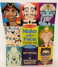 Melissa & Doug Make-a-Face Sticker Pad Faces Sticker Sheets Toy Craft New Gift
