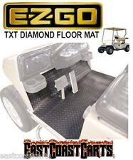EZGO TXT 2001'-Newer Golf Cart Diamond Floor Mat Black Rubber