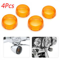 4x Turn Signal Light Lens Cover For Harley Electra Glide Sportster Touring Amber