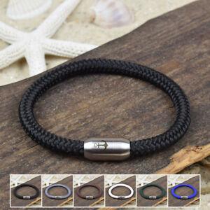 ❦ Armband ERIK Segeltau 6 mm Surfer Magnetverschluß Farbe & Größe wählbar ❦