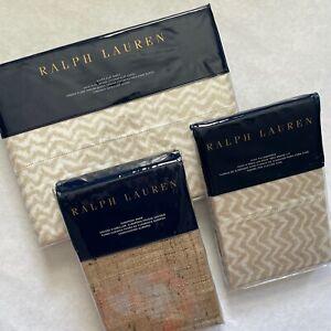 Ralph Lauren CECILY Bedding Collection - Sheet Shams Pillowcases NEW