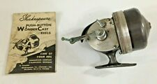Vintage Fishing Reel shakespeare Push Button Wonder Cast No 1777 instructions