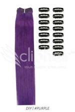 Perruques, extensions et matériel à clips violets pour femme