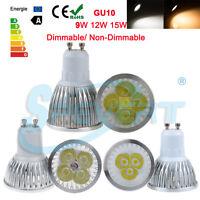 Dimmerabile GU10 LED Spot LAMPADA LAMPADINA 9W 12W 15W FARETTO DA INCASSO Luce