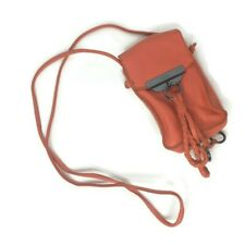 Kooba Mini Small Leather Crossbody Bag Orange Cellphone Purse