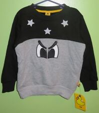 NWT Pancoat KPOP Star Eyes Sweatshirt Size 140 10 Gray Kids Boys Korean Fashion