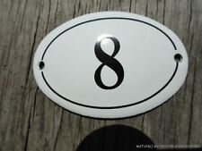 SMALL ANTIQUE STYLE ENAMEL DOOR NUMBER 8 SIGN PLAQUE HOUSE NUMBER FURNITURE SIGN