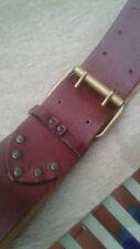 Women's Leather Belt (L) 'Express' Boho Chic Stylish Pirate Cinch Casual