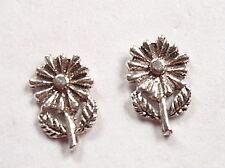 Daisy Flower 925 Sterling Silver Stud Earrings Corona Sun Jewelry