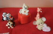Vintage Hallmark Valentine merry miniatures with 1986 teddy bear container