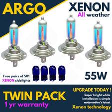 4x H7 499 55w Xenon Super Power Blanco Headlight Bulbs sumergido haz principal 12v + 501