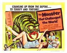 Monster That Challenged The World Poster 03 Metal Sign A4 12x8 Aluminium