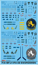 144004 1/144 F/A-18F VFA-32 Swordsmen 2 in 1 decal set