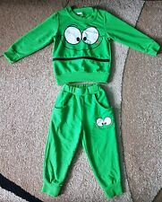 Baby Boy Track Suit Athletic QXMY Green Top Pants 2T