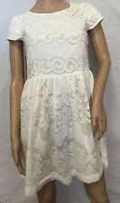 NEW Mini  Boden Johnnie B White  Lace Dress  13- 14 Y