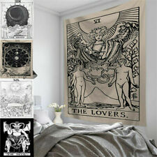 Wall Hanging Art Tapestry Bedroom Home Decor Tarot Card Printed Moon Ornament