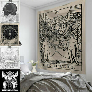 Hanging Bohe Tarot Card Moon Tapestry Wall Blanket Poster Hippie Bedroom Decor