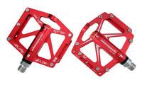 1Pair Universal 3Bearings Pedals Bike Bicycle Flat/Platform Pedal AL Alloy&Steel