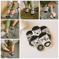 5 Pair Baby Kids Girl Boy Socks Cute Cartoon Printed Soft Cotton Anti Slip Socks