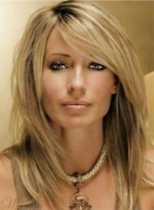 100% Human Hair New Fashion Glamour Women's Medium Dark Blonde Straight Full Wig