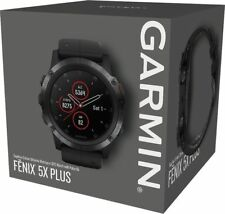 NEW Garmin Fenix 5x Plus GPS watch Sapphire HEART RATE Monitor COLOR TOPO maps